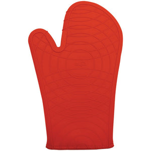 "Silicone Oven Mitt, 12"", Red"
