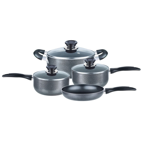 7-Piece Aluminum Non-Stick Cookware Set (Granite)