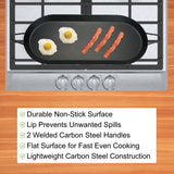 18-Inch Carbon Steel Non-Stick Double Burner Comal Griddle