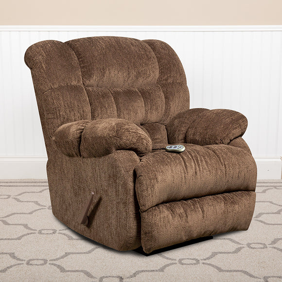 Massaging Columbia Microfiber Rocker Recliner with Heat Control
