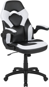 X10 Gaming Chair Racing Office Ergonomic Computer PC Adjustable Swivel Chair with Flip-up Arms, LeatherSoft
