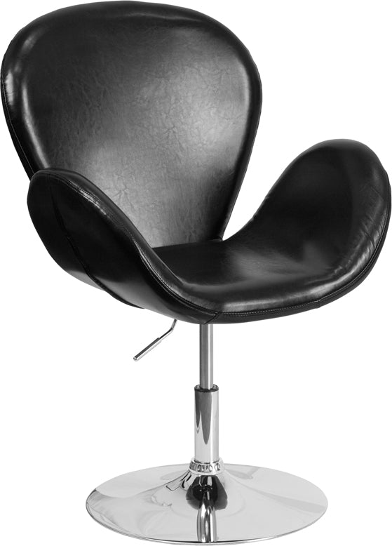 HERCULES Trestron Series LeatherSoft Side Reception Chair with Adjustable Height Seat