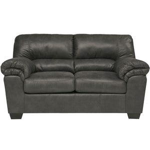 Signature Design by Ashley Bladen Loveseat in Slate Faux Leather