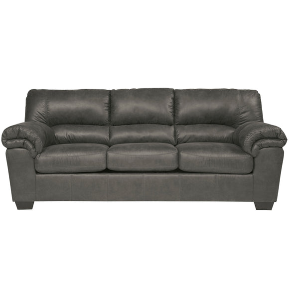 Signature Design by Ashley Bladen Sofa in Slate Faux Leather