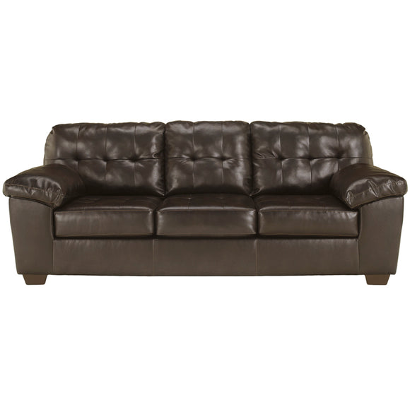 Signature Design by Ashley Alliston Sofa in Chocolate Faux Leather