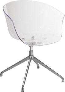 Clear Acrylic Contemporary Reception Chair