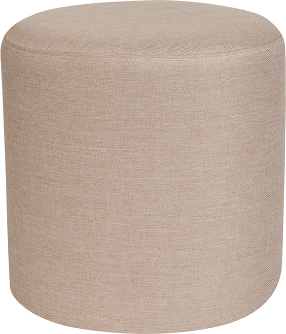 Barrington Upholstered Round Ottoman Pouf