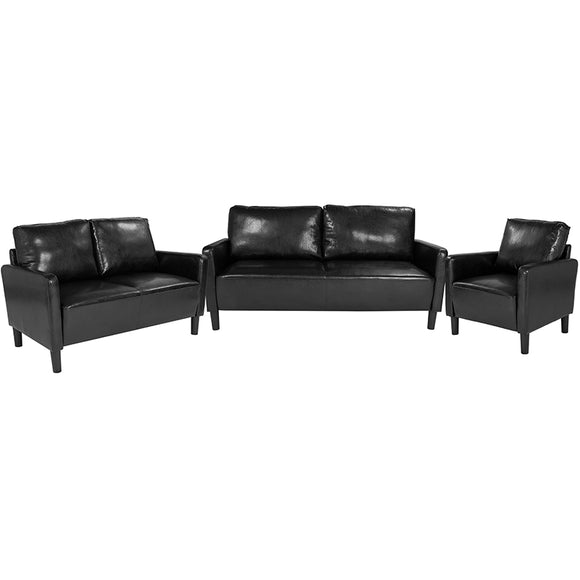 Washington Park 3 Piece Upholstered LeatherSoft Set