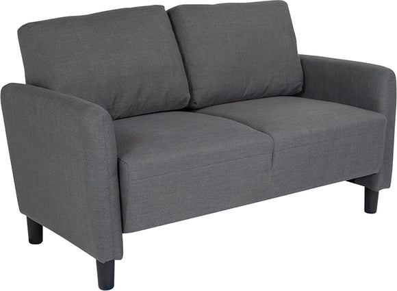 Candler Park Upholstered Loveseat in Dark Gray Fabric