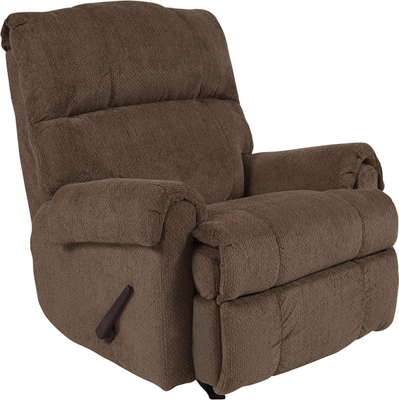 Contemporary Kelly Super Soft Microfiber Rocker Recliner