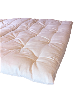 Green Cotton Mattress Topper in Cotton Case