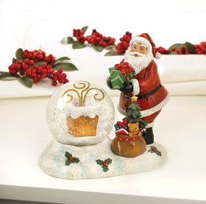 Santa Chimney LED Snow Globe