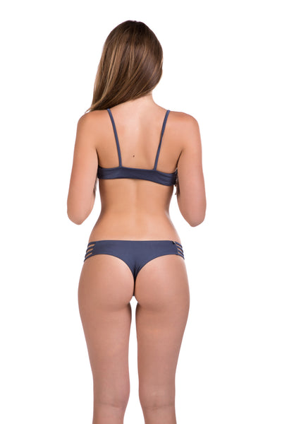 Luna Bottom in Metallic Blue