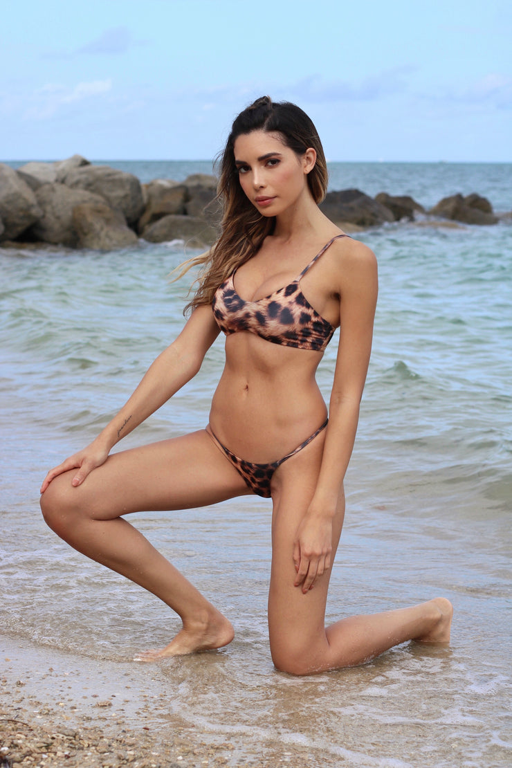 Leopard Copacabana Top and Lua Bottom Jasmine Tosh - Lybethras Swimwear