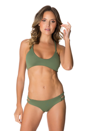 Mairin Top in Olive Green