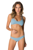 Baja  Brazilian Bikini Bottoms in Dusty Blue