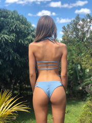 Waverly  Brazilian Bottom In Dusty Blue