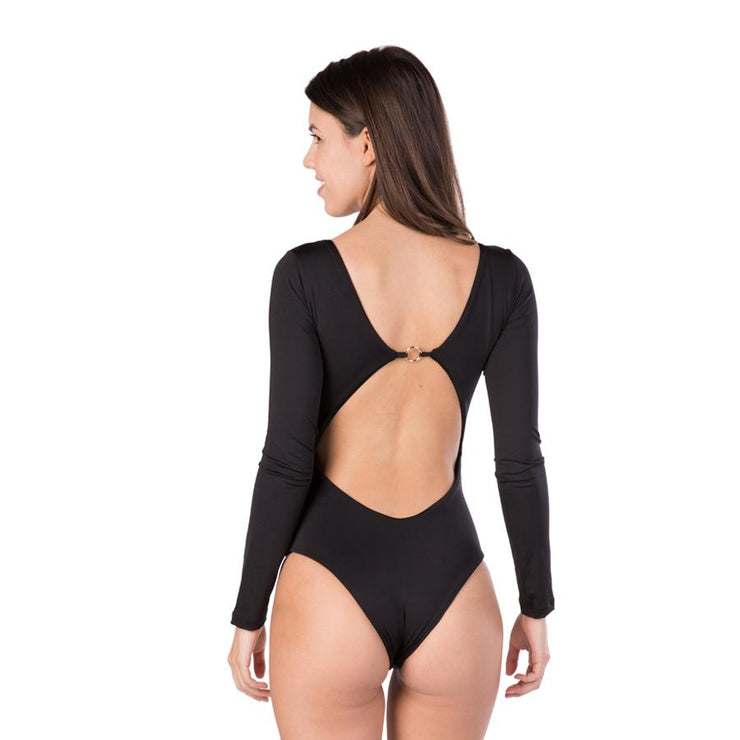 Juliane One piece Swimsuit Long Sleeve Black