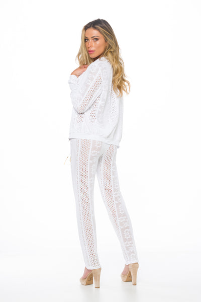 White  Leila Pants