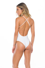 Audrey Textured white One piece Swimsuit