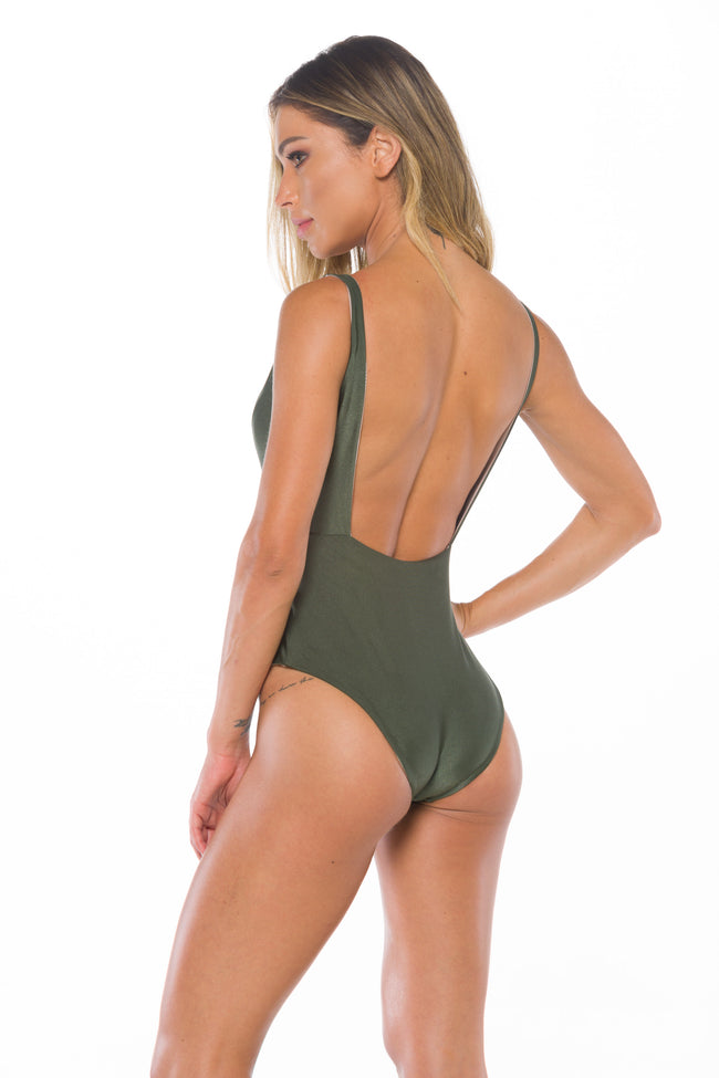 Chanel Olive Body Sculpt  Reversible   Shapewear Swimsuit