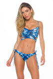 Bottom Bruna Reversible Blue Palm