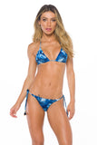 Top Anna Blue Palm Reversible