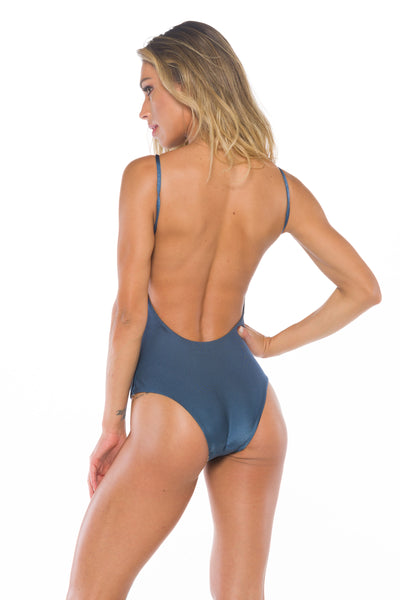 Audrey Shiny Navy One piece