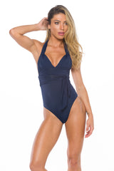 Waverly  Brazilian Bottom In Shimmer Navy