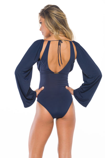Simone  With Removable Sleeves One Piece