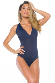 Simone  One piece Swimsuit With Removable Sleeves