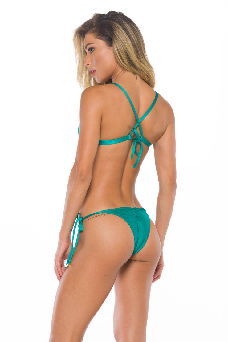 Bottom Anna Ring Jade Green - Lybethras Swimwear