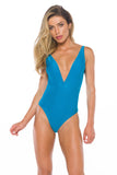 Chanel Turquoize One piece Swimsuit