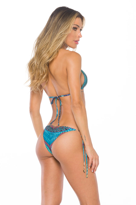 Bottom Waverly Blue Palm Reversible