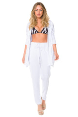 Camilla White Pants In Egyptian Organic Cotton