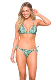 Reversible Bikini Top Anna  Leopard Green Collection Summer  2020