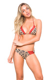 Anna  Top  Leopard and Shimmer orange  Reversible