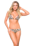 Brazilian Bikini Bottom Leopard  and shimmer orange  Summer 2020 Bicolor