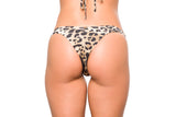 Triangle and Bottom  Seamless with srunch   Leopard and Saffron  Shimmer Bicolor