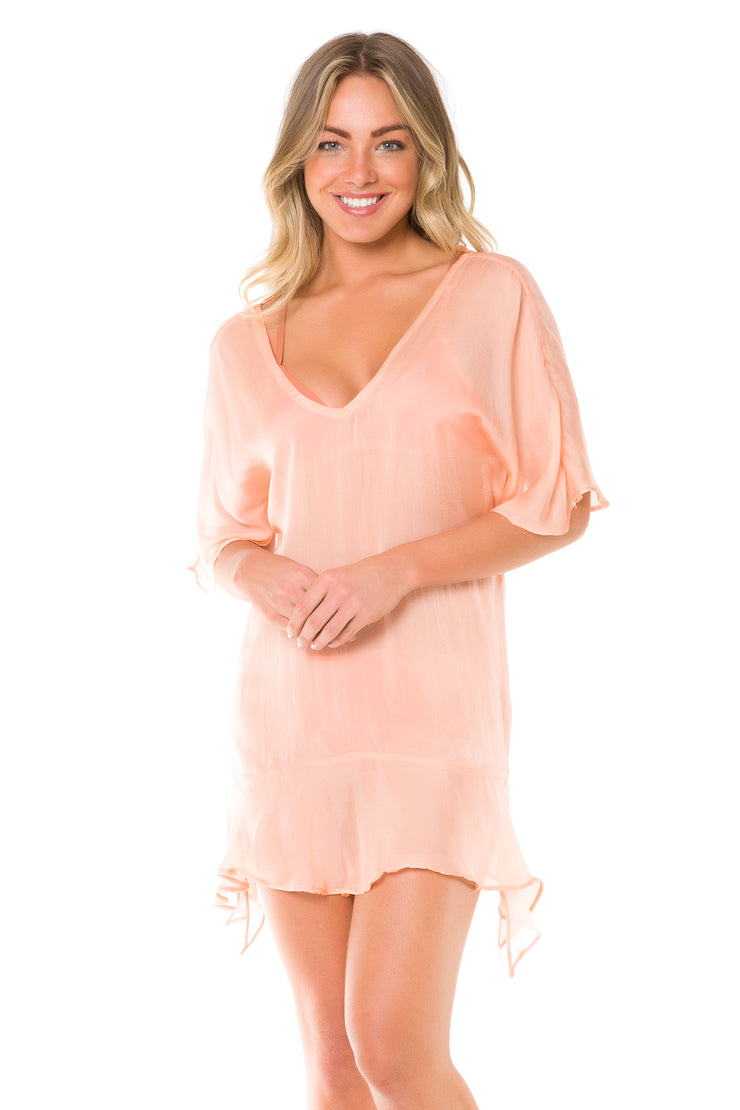 Peach Ruffles Dress
