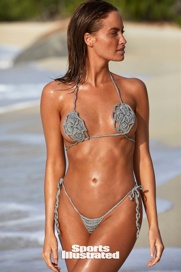 Haley  hand made crochet silver   Bikini 2020