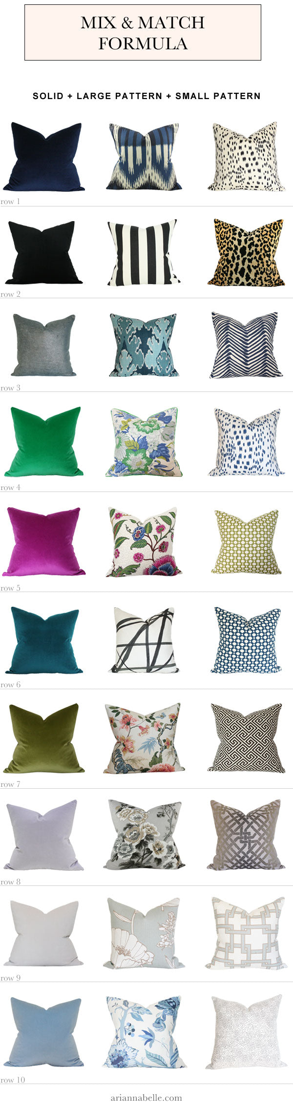 How to Mix and Match Pillows - Decorating Guide