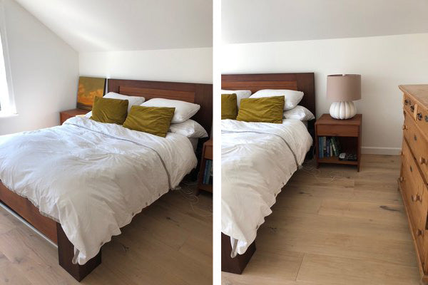 Before & After - a bedroom by Megan Bachmann
