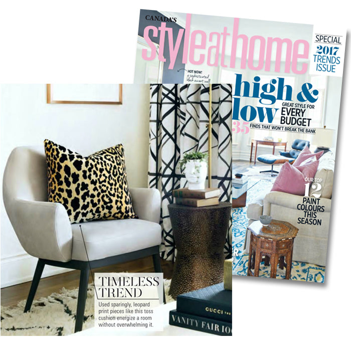 Style At Home Magazine January 2017 Page 64 Featuring Arianna Belle Leopard Velvet Pillow And Space