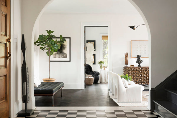 chic black and white home designed by Nicole Botsman
