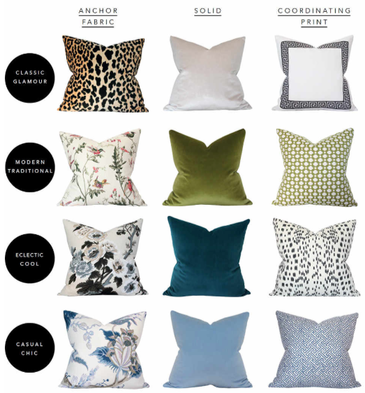 designer pillow chic combinations - how to mix and match