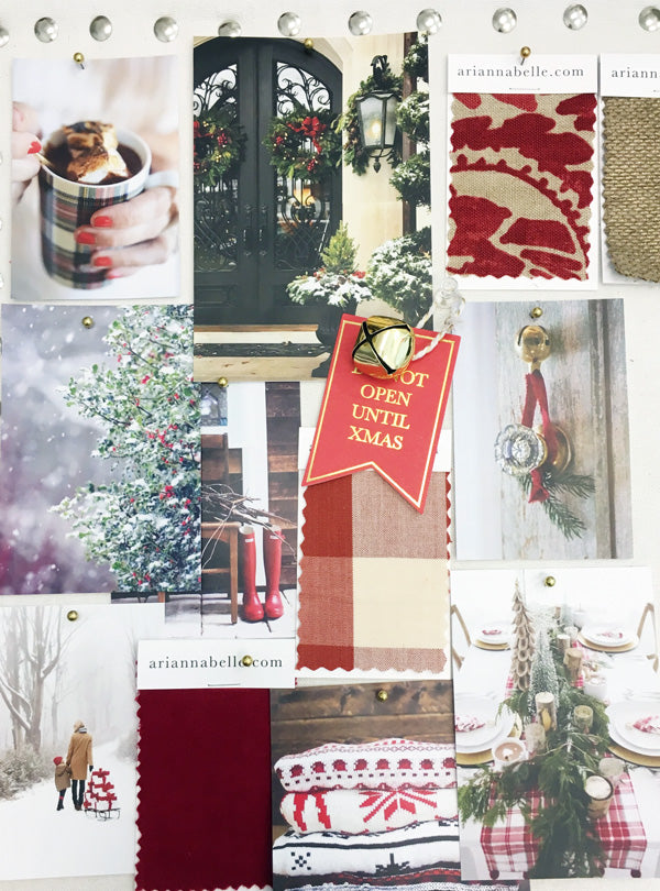 Christmas red inspiration board | Arianna Belle Blog
