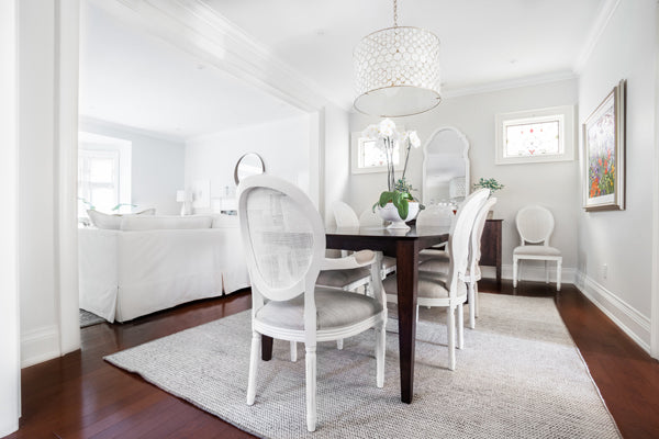 Designer Spotlight Kate + Amanda | Arianna Belle Blog | white dining and living room open concept