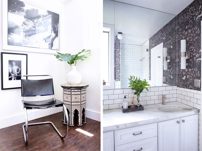 Designer Spotlight Lindsay Pennington Arianna Belle Blog - bath + chair corner