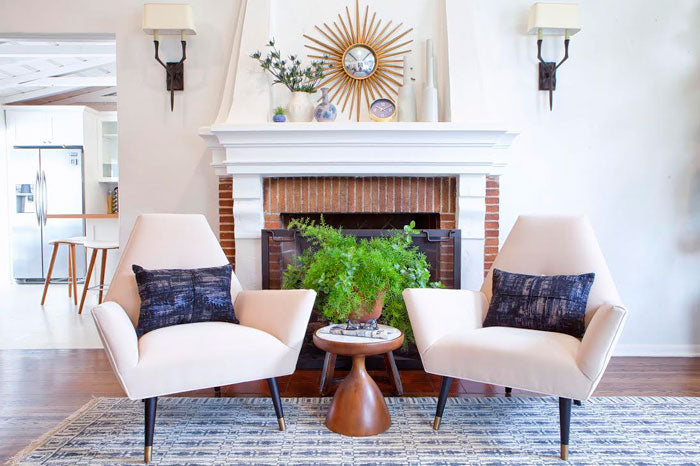 Designer Spotlight Lindsay Pennington Arianna Belle Blog - fire place and chairs